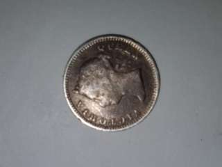Queen Victoria 1888 5 cents coin