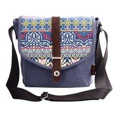 Women Leisure National Printing Crossbody Bag