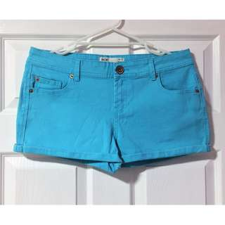 Cotton On Aqua Denim Shorts - Size 12