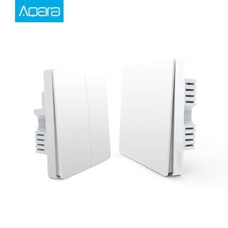 (Xiaomi) Aqara Smart Home ZiGBee Wall Switch (Double Key Neutral Version)