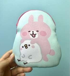🈹全新超得意兔兔P助拉鏈袋仔 原價1500yen‼️Piske & Usagi by Kanahei Pouch Bag 萌兔😍