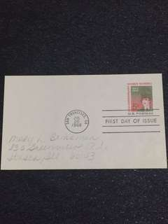 US 1968 Women Marines Postal Card FDC stamp
