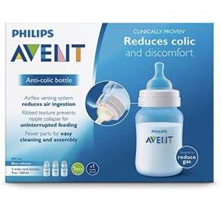 Avent Classic+ Bottle 260ml 3pcs - blue color