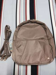 Flash Sale!!! BNWT AUTHENTIC PACSAFE CITYSAFE CX CONVERTIBLE BAG BLUSH TAN