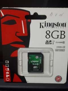 Kingston 8GB SDHC Card Class 10 U1