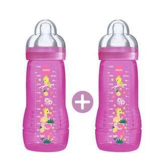 MAM Easy Active Baby Feeding Bottle 330ml - Double Pack