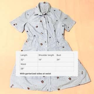 Stripey dress - medium