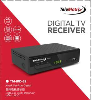 New stock TeleMatrix DVB-T2 Digital TV Box with 6 months agent warranty