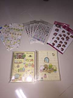 Cheap stickers and notebooks