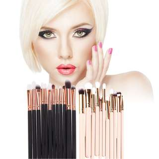 (803)12Pcs Rose Gold Makeup Brush Set Eyeshadow Eye Brushes Tool