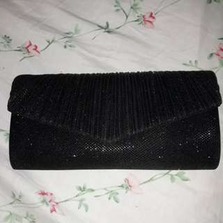 Black Clutch Bag with Sling
