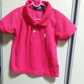 BABY CLOTHES HK POLO GIRL TOP FOR 1-2YEARS.