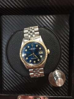 rolex diamond datejust 36mm watch