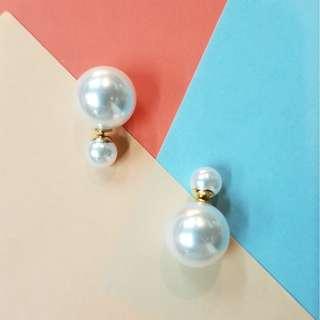 Ariel Double Pearl Earrings