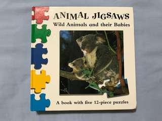 Wild Animals Puzzle book