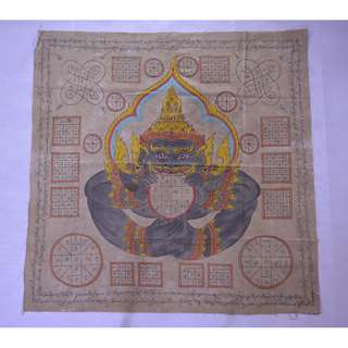 Old hand drawn temple cloth (Lanna phayant)