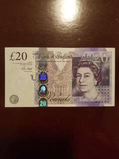 UK £20 Bank of England 2007 design