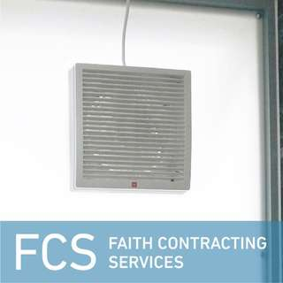 Ventilating Fan/Exhaust Fan (square) + Installation Services (Professional)
