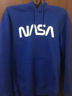 H&M NASA Hoodie Blue