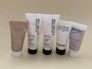 Lancome Chanel Shu Uemura Biotherm samples