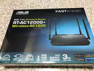 [BNIB] ASUS Dual band Router 802.11ac RT-AC1200G+ Wireless-AC1200 - Price  Nego