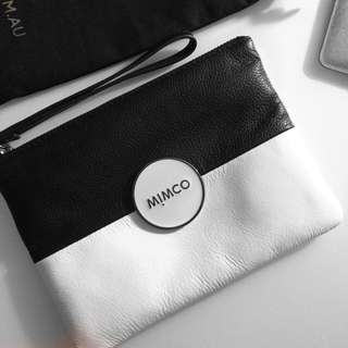 BNWT - Mimco 'Tandem' Medium Pouch - Black and White