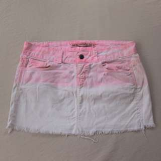 Pink ombre mini skirt