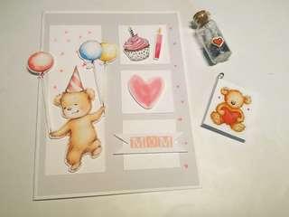 Birthday card - custom made
