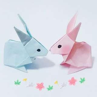 Cute paper rabits