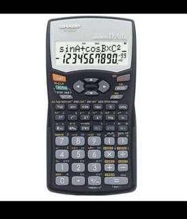 Sharp scientific statistics financial calculator EL-509WM-bk