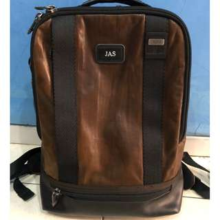 Tumi Alpha Bravo Dover Leather Brown Backpack Original