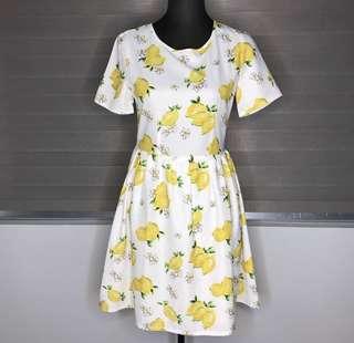 Lemon Dress - super cute Medium
