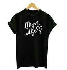 Mom Life Heart Love Unique Design Shirt T-Shirt Tee