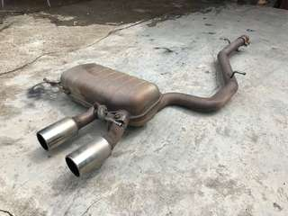 VW GOLF R EXHAUST