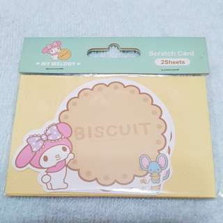 My Melody Sanrio Scratch Card