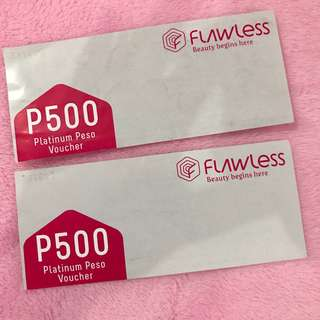 FLAWLESS 500 PESO DISCOUNT CHECK