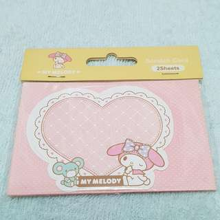 Set of 2 My Melody Sanrio Scratch Cards