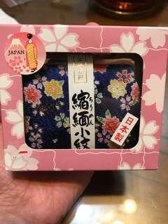 🚚 日本製Japan古代友禪零錢包(藍色)