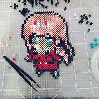 Zero Two Perler Beads Craft