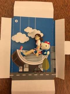 香港限定Hello Kitty 杯緣子有盒