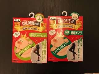 ❤️包順豐❤️ 2對 日本calorie off let's diet 瘦腿  黑色絲襪