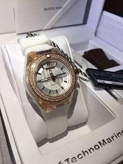 全新 Technomarine Diamond Watch 18k 真鑽石 女裝 手錶 瑞士 1卡鑽石 情人節 情人節禮物 生日禮物 原價$17500