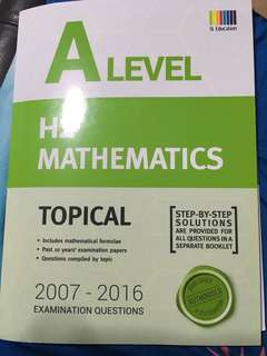 A level H2 Math TYS 2007-2016