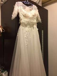 2件頭輕婚紗 prewedding gown