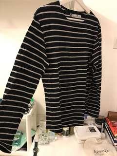 Steal deal! Nordhen basic stripes longsleeve tee