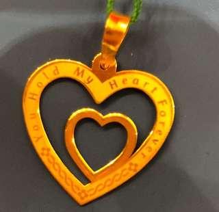 Lovely Double hearts locket ❤️❤️Gold 916
