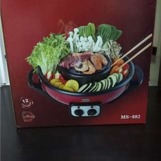 Brand New Morries 2 in 1 Mookata BBQ Hot Pot
