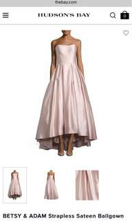 RARE Betsy and Adam High Low Blush Prom Dress