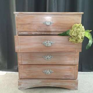 Solid Wood Shabby Chic Pine Dresser