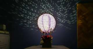 Used DIY night flower hot air balloon lamp